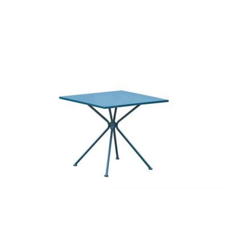 Inko Eisen Tisch Soho blau 80 x 80 cm Gartentisch Beistelltisch TBT 288-B