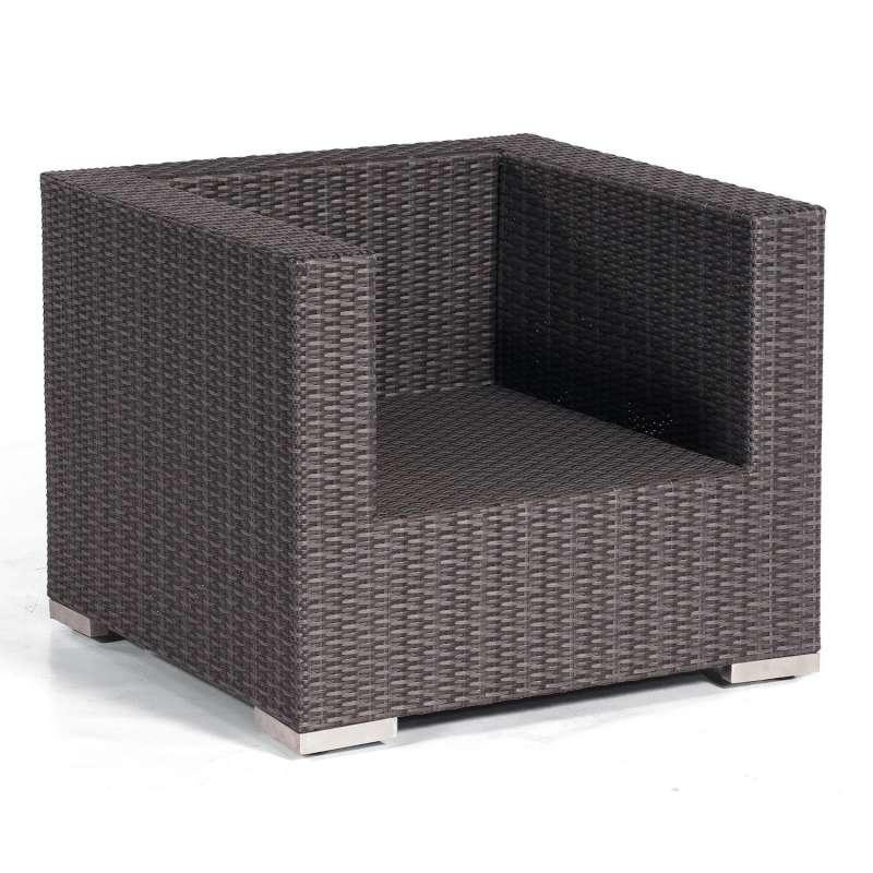 Sonnenpartner Lounge-Sessel Residence Aluminium mit Polyrattan graphit-schwarz inklusive Kissen Loun