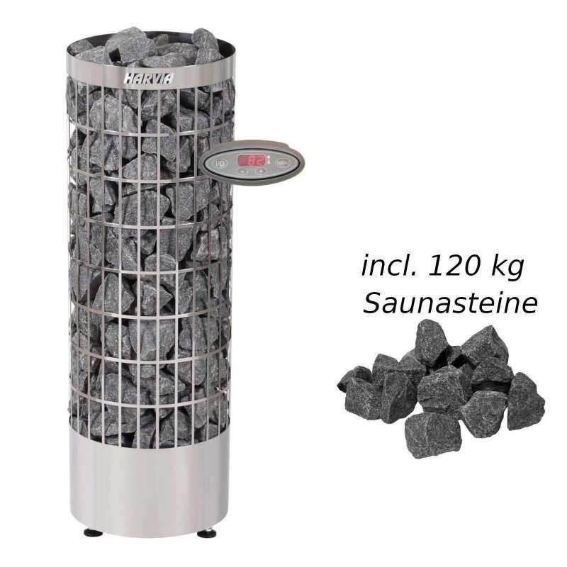Harvia Saunaofen Cilindro 10,8kW Elektroofen PC110EE Saunaheizgerät, Stahl