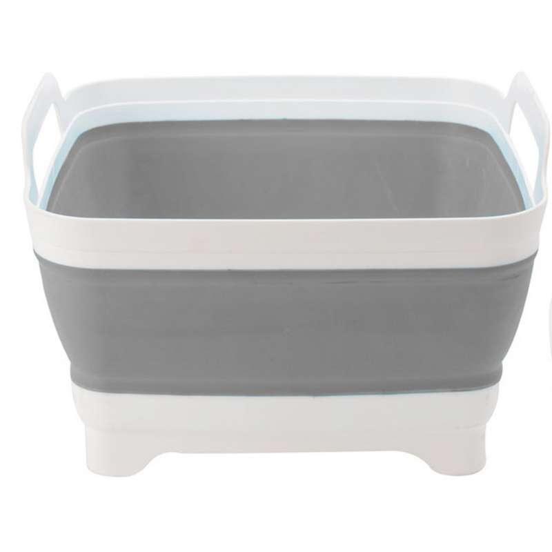 Spülschüssel 30 x 30 x 20 cm Campingschüssel grau Tischschüssel Waschzuber
