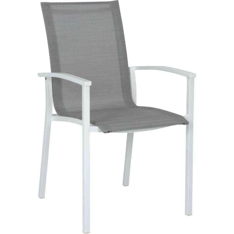Stern Stapelsessel Evoee Aluminium weiß / silber Gartenstuhl 417673