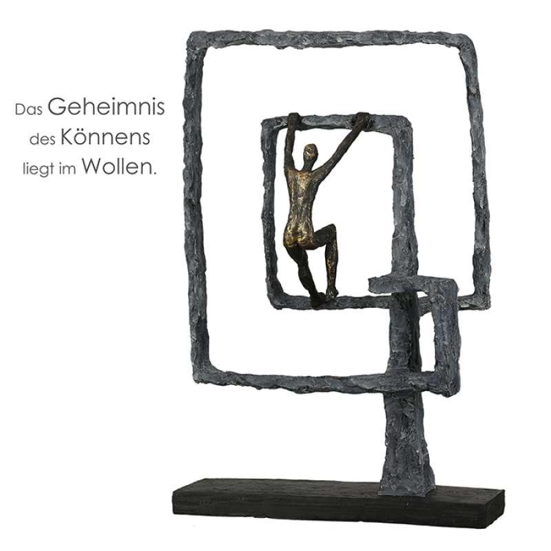 Casablanca Skulptur Power Poly bronzefarben/grau 40,5 cm