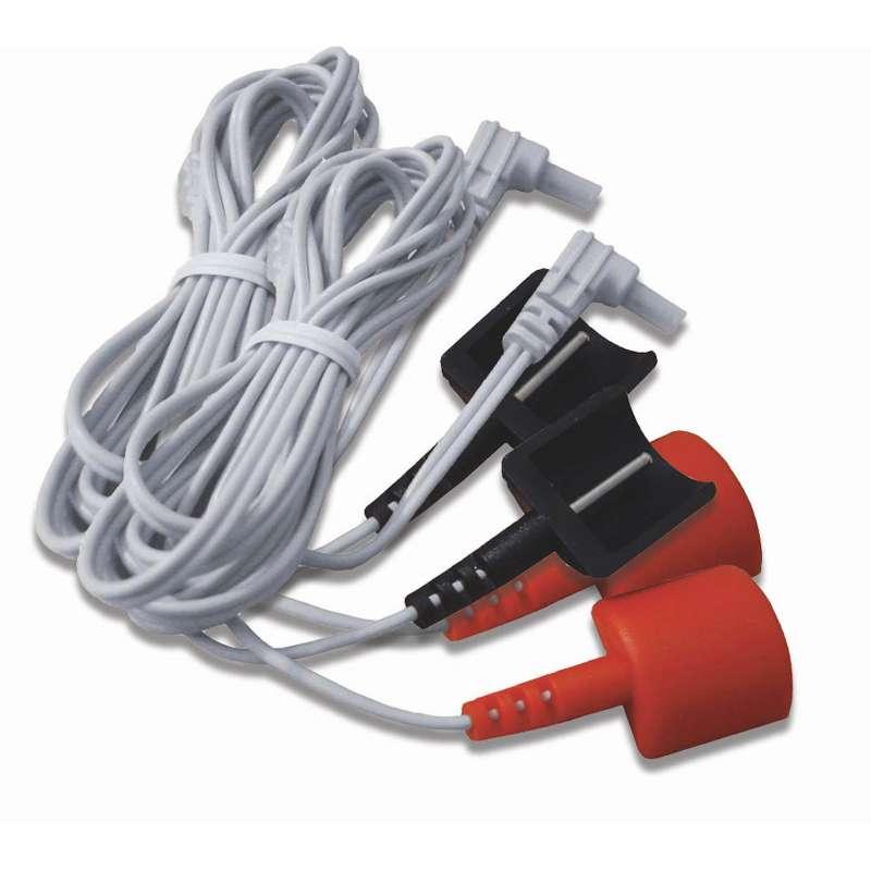 Hofmann 2 Elektrodenkabel für Dauerelektroden für TENS- und EMS-Geräte 89271