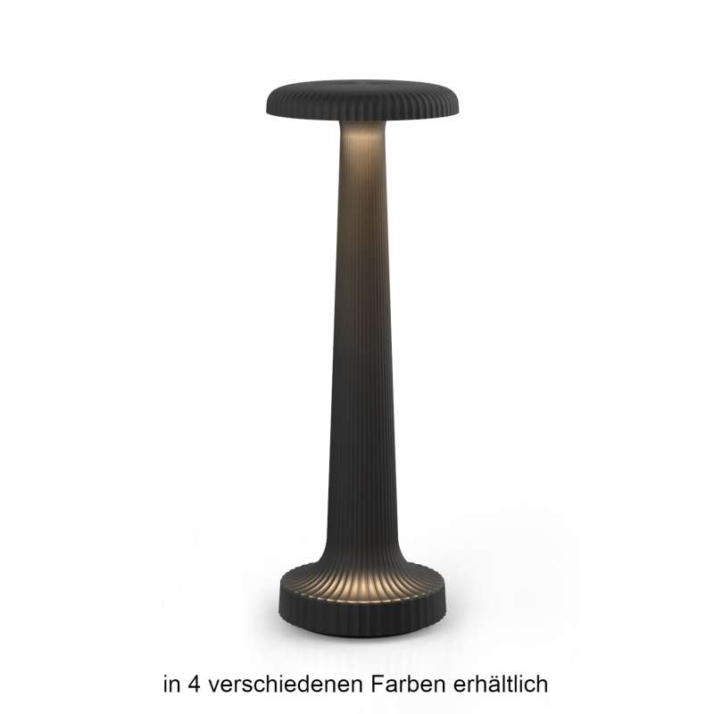 NEOZ kabellose Akku-Tischleuchte Tall POPPY UNO LED-Lampe dimmbar 1 Watt 27x9,4 cm