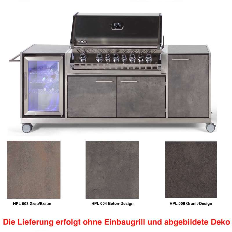 Niehoff Garden Outdoor-Küche Pro ca. 240,5 x 93 x 65 cm HPL Front mit Auszug