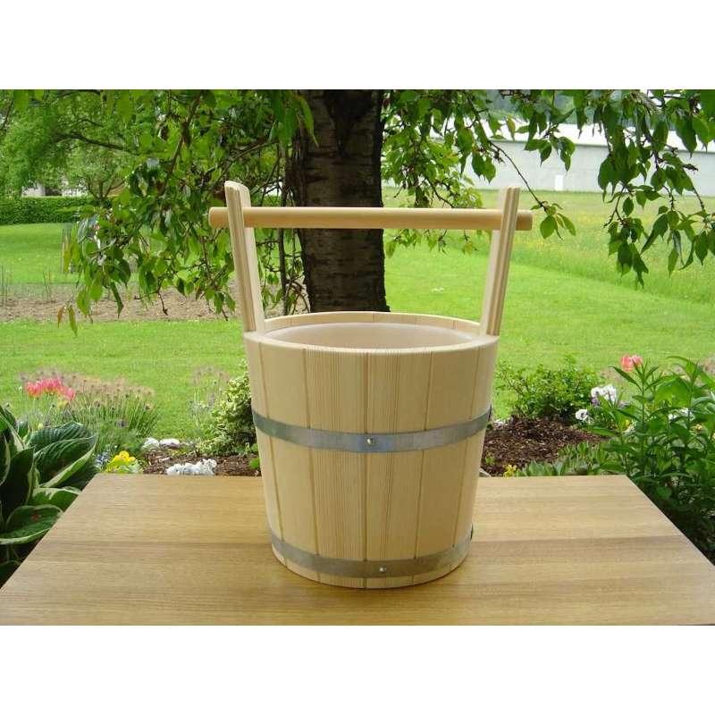 Achleitner Sauna Aufgusskübel Fichtenholz 5 liter mit Tragegriff 763