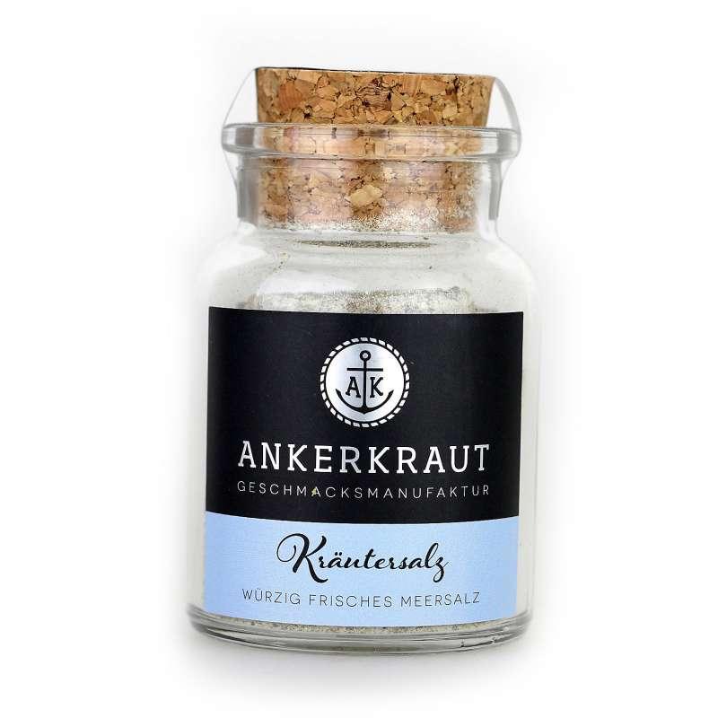 Ankerkraut Kräutersalz Meersalzmischung würziges Salz im Korkenglas 100 g