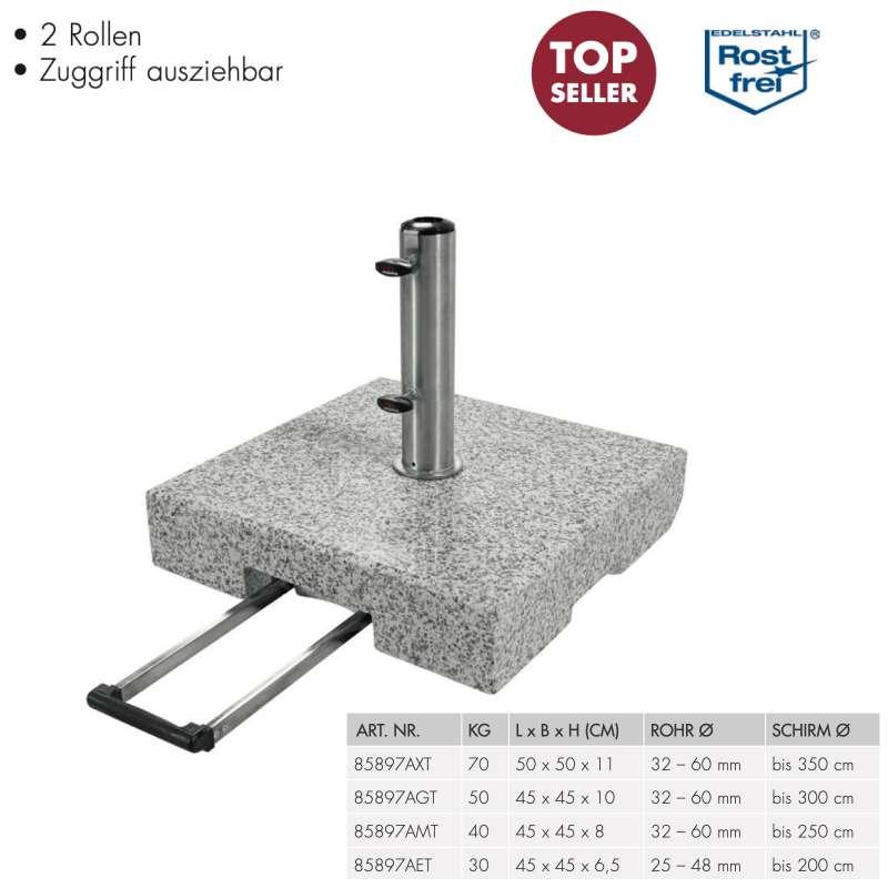 Doppler Trolley Granitsockel Rollsockel Granitsockel 30 40 50 70 kg auswählbar 85897