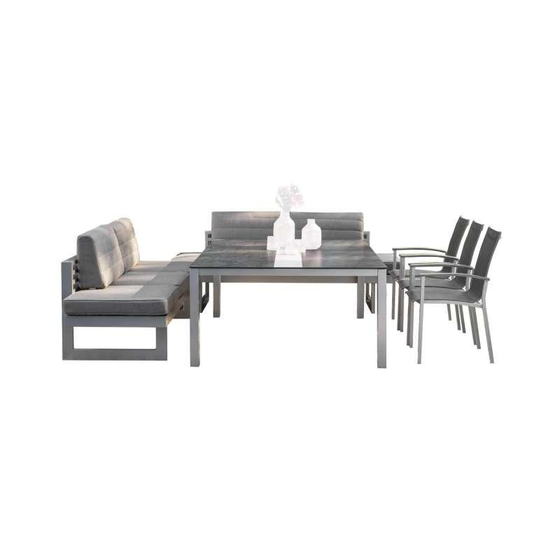 Stern 10-teilige Dining-Sitzgruppe New Holly/Evoee mit Tisch 200x140 cm Loungeset Loungegruppe