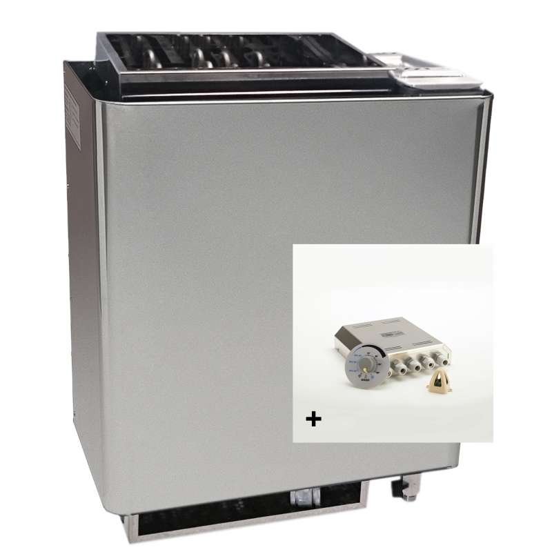 Infraworld Saunaofen Verdampfer Bi O Mat 9 kW inkl. Steuerung Saunacontrol X0
