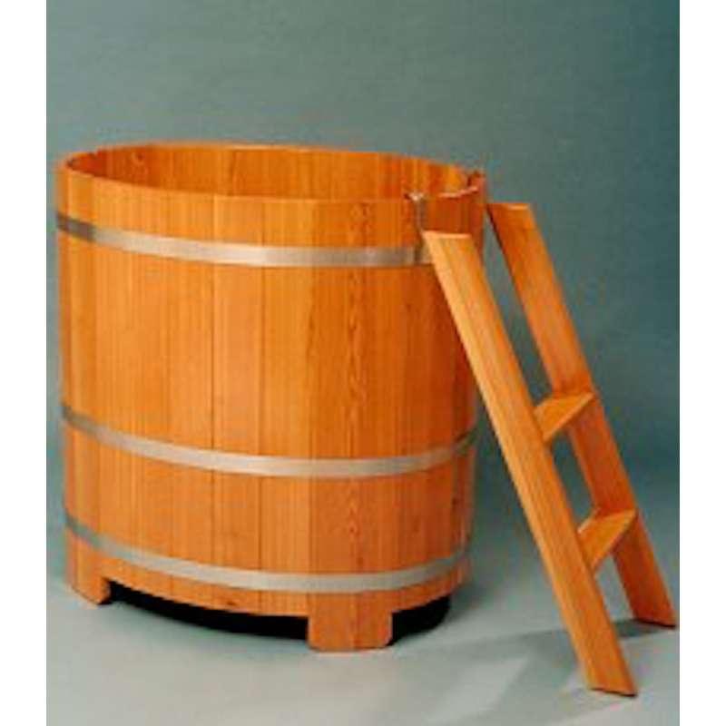 Arend Tauchkübel Lärche natur inkl. Einstiegsleiter ca. 350 L Sauna Tauchbecken