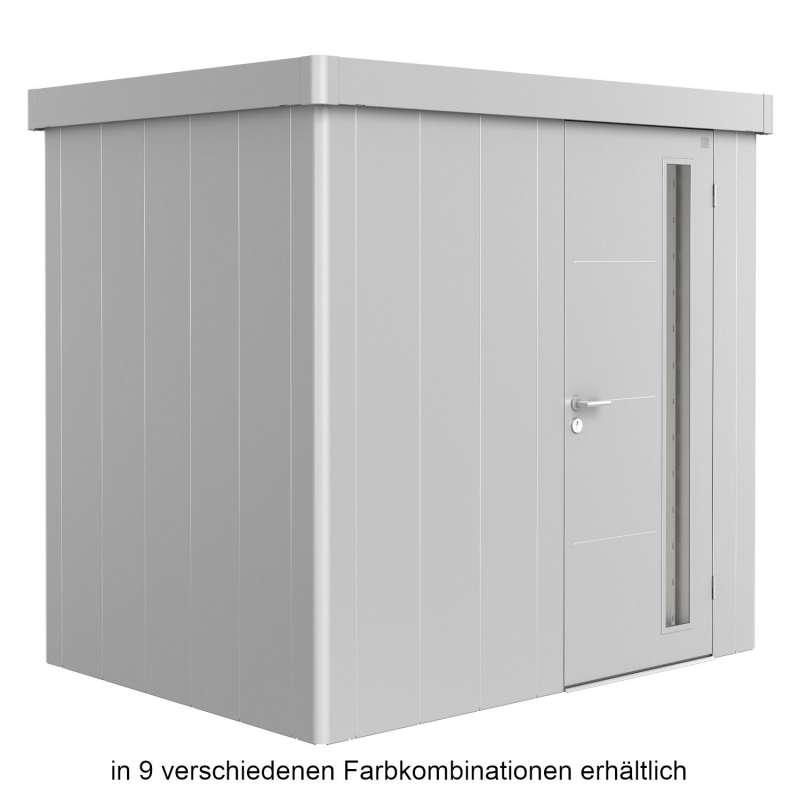 Biohort Gerätehaus Neo 1B 236x180x222 cm Standardtür in 9 verschiedenen Farben Gartenhaus