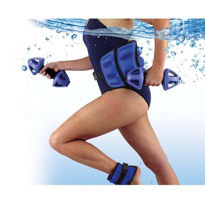 Life Resistance Kit Wasser Fitness Training Set 2x Hantel + 2x Fußfessel + Gürtel