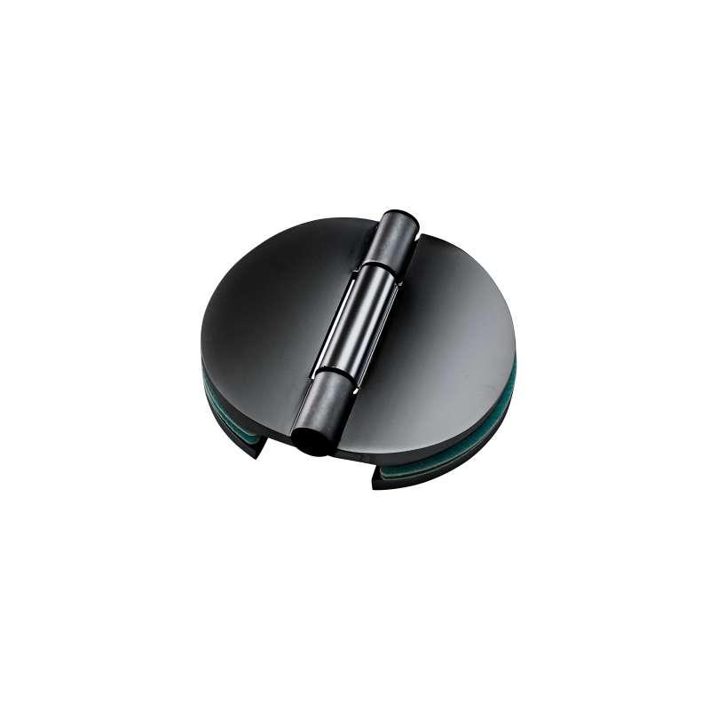 Infraworld Doppeltürband schwarz matt für 6 bzw. 8 mm Glastür Saunatür