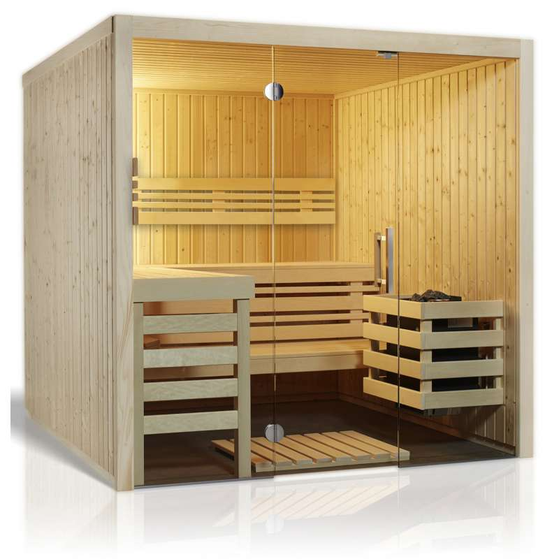 Infraworld Sauna Panorama 180 Elementsauna 210 x 180 cm in nord. Fichte 391071