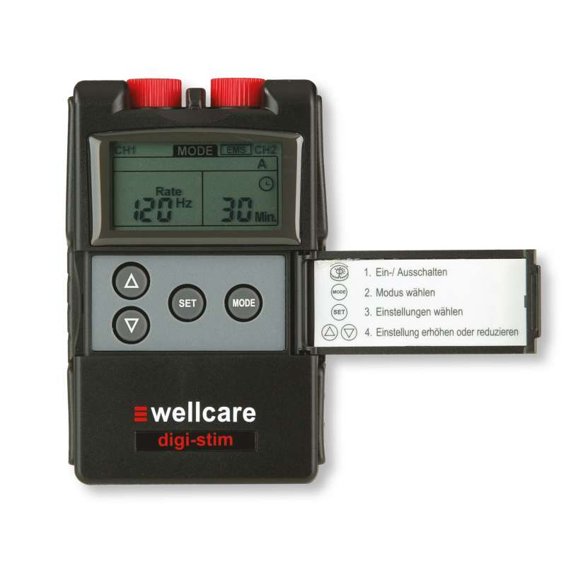 Sanowell Wellcare DigiStim TENS- & EMS-Kombi-Gerät mit selbstklebenden Elektroden 89220