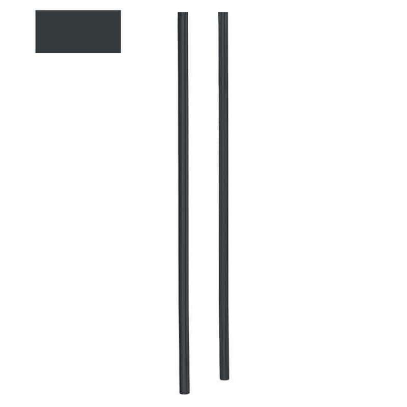 Heibi Briefkastenständer 170 cm aus Stahl grau RAL 7016 zum Einbetonieren