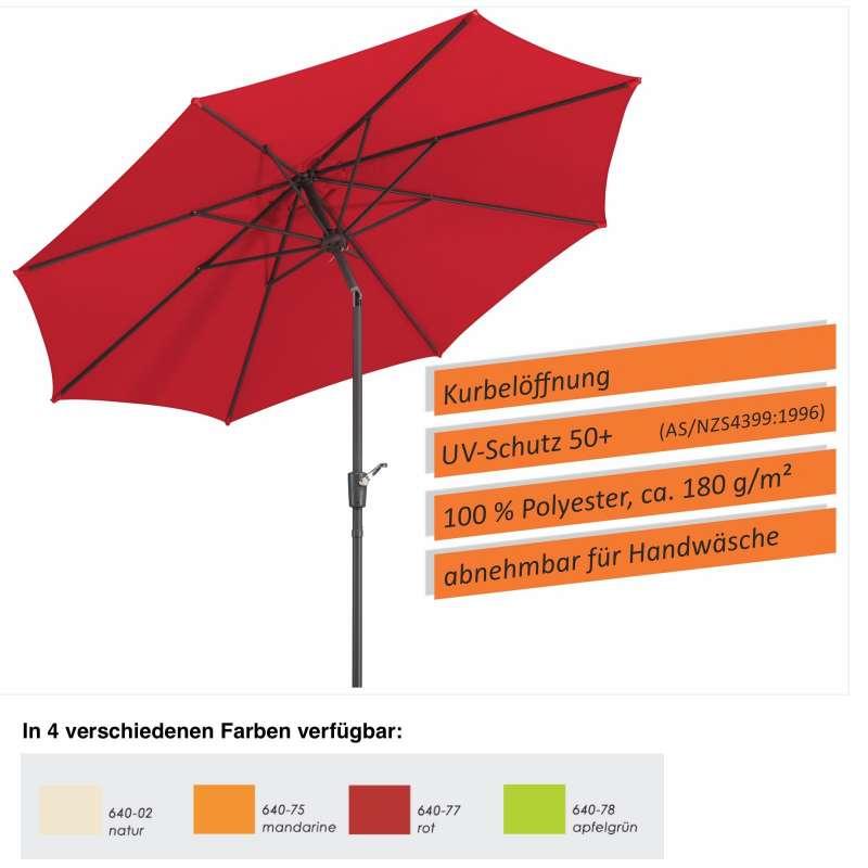 Schneider Schirme Harlem Mittelmastschirm ø 270 cm in 4 Farbvarianten Sonnenschirm