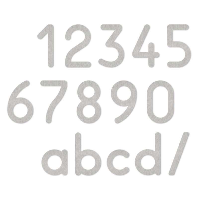 Heibi 1x MAX Hausnummer/Buchstabe zur Wahl Edelstahl 10/16 cm 0 1 2 3 4 5 6 7 8 9 a b c d /