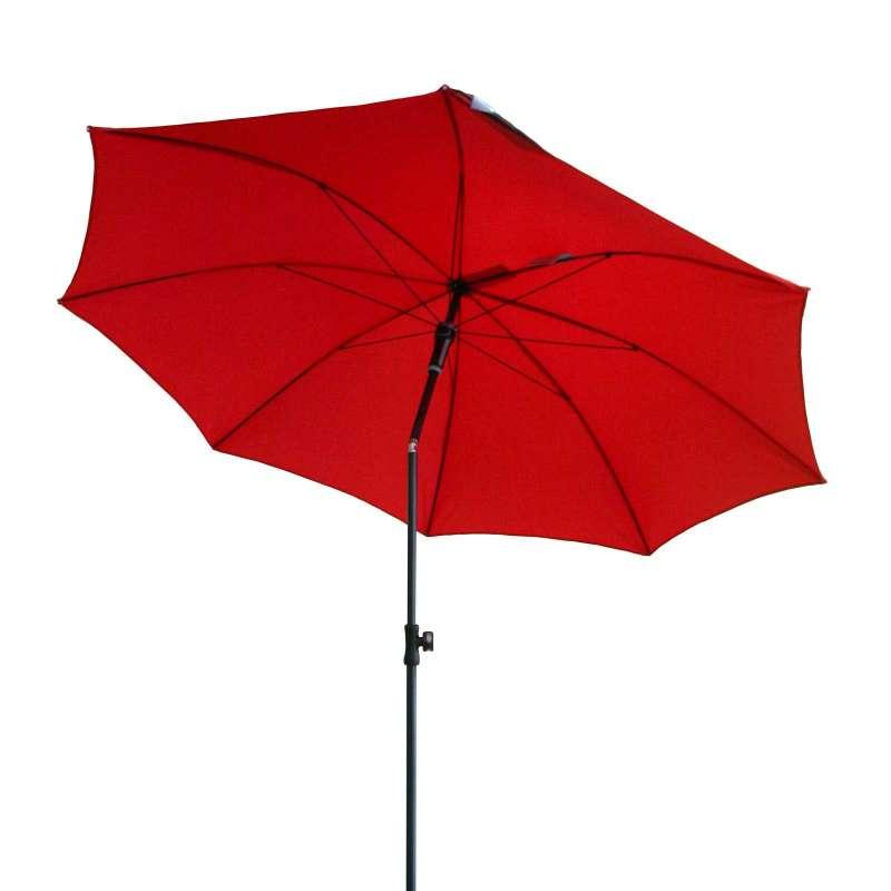 Doppler Sunline ø 200 Sonnenschirm Rot 809 Gartenschirm ohne Volant Sonnenschutz