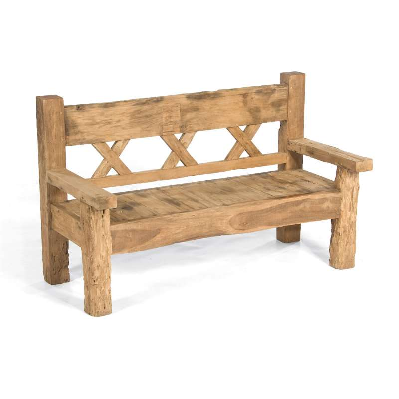 Sonnenpartner Sitzbank Jumbo 160 cm Teakholz Old Teak 3-Sitzer Bank Gartenbank