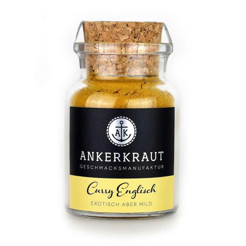Ankerkraut Curry Englisch mildes Currygewürz im Korkenglas 70 g indische Küche