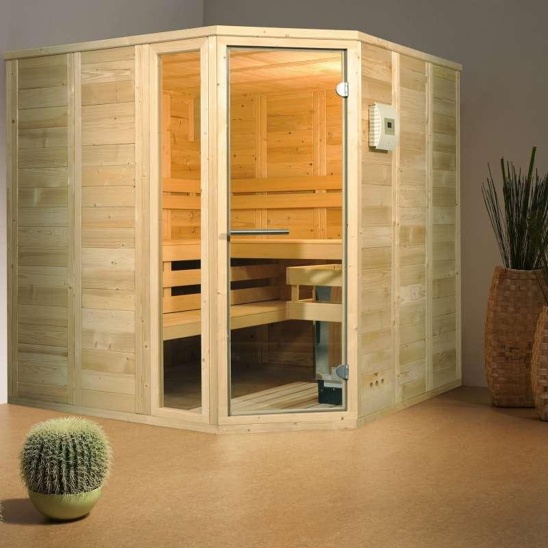 Infraworld Sauna Classico Massivholzsauna Größe 210 x 210 cm 391006
