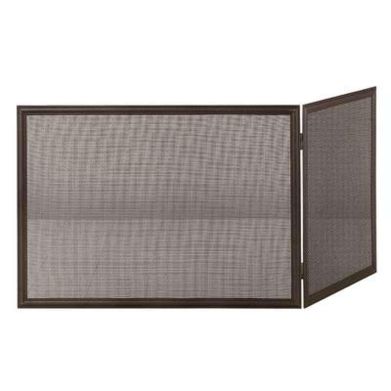 Heibi Funkenschutz Stahl/Draht schwarz glimmer 70/110x50 cm zweiteilig