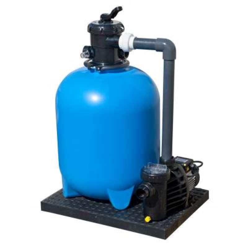 Filteranlage Set 500 mm TOP MOUNT mit fester Verrohrung zur Pumpe 45125500
