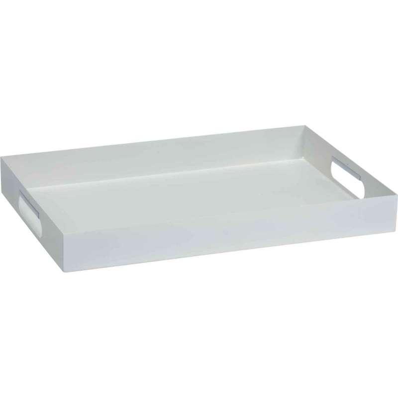 Stern Tablett Serviertablett Aluminium weiß 60 x 40 x 7 cm 410358