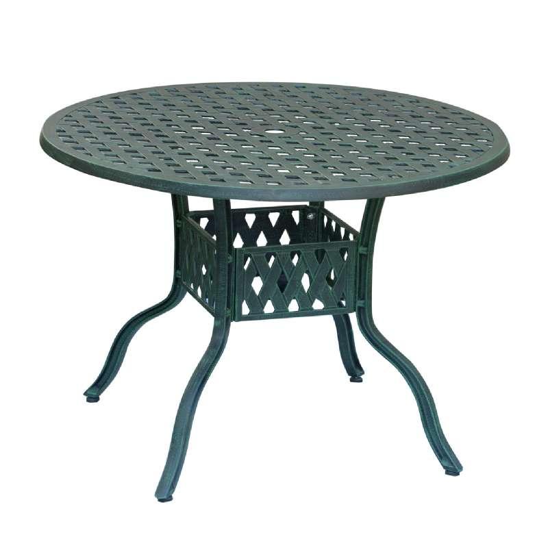 Inko Aluguss Tisch Nexus Grün rund 106 cm Gartentisch TAG 201-G