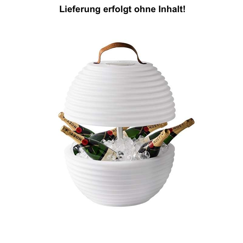 Nikki.Amsterdam The.Bowl LED Lampe Color Bluetooth Lautsprecher Champagnerkühler