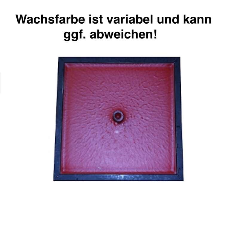 Feuertopf Zinkschale Feuerschale Fackelwachs rechteckig klein 28 cm
