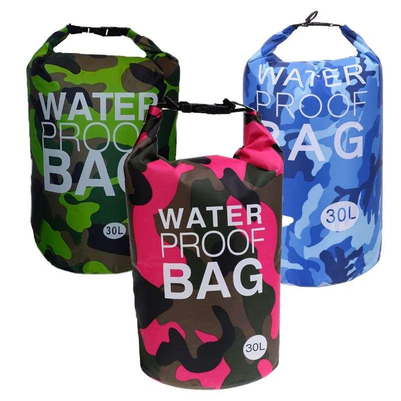 Drybag 30L SET Tasche 30 Liter Familienset wasserdicht Packsack Camouflage Kühltasche