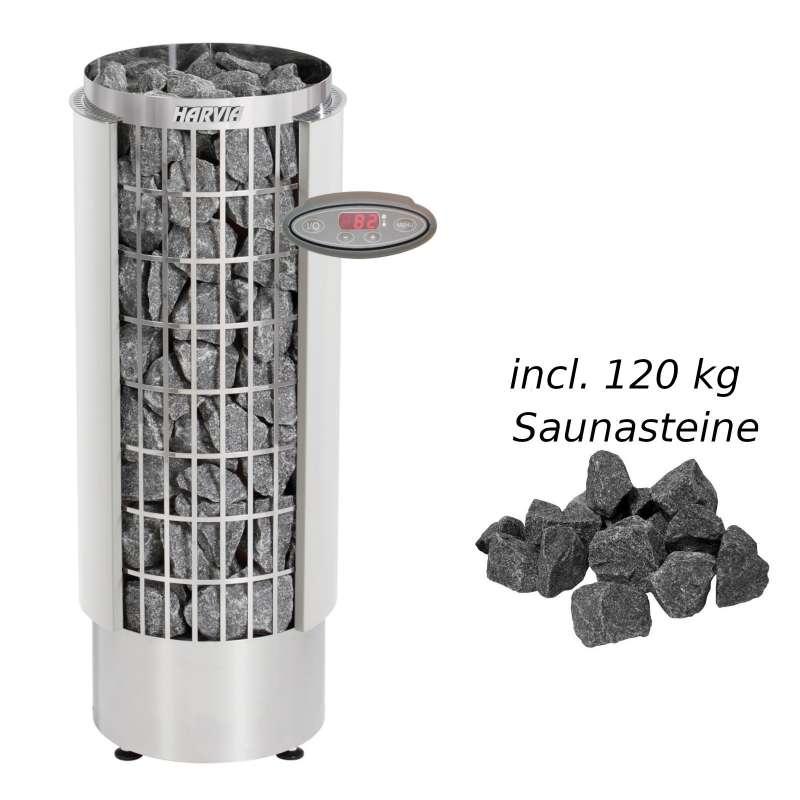 Harvia Saunaofen Cilindro HEE 10,8 kW Elektroofen PC110VHEE Saunaheizgerät