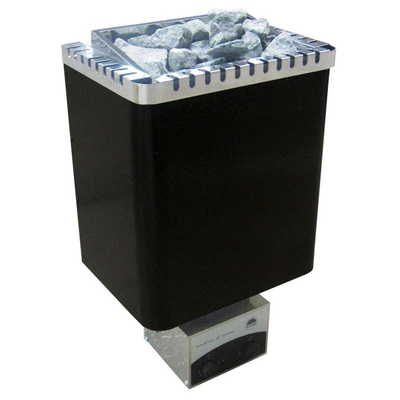 Eos Classic Saunaofen Wandofen Ecomat II Premium 6 kW schwarz glänzend 94.5373