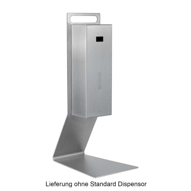 Hygienic Standard Tisch-Standfuß für Standard Dispensor Edelstahl nanobeschichtet 15x30x58 cm