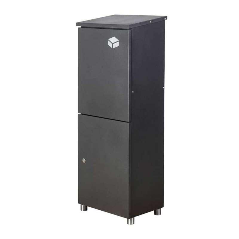 Heibi Paketkasten Stahl graphitgrau Paketbox bis zu 31x21x35 cm entnahmesicher