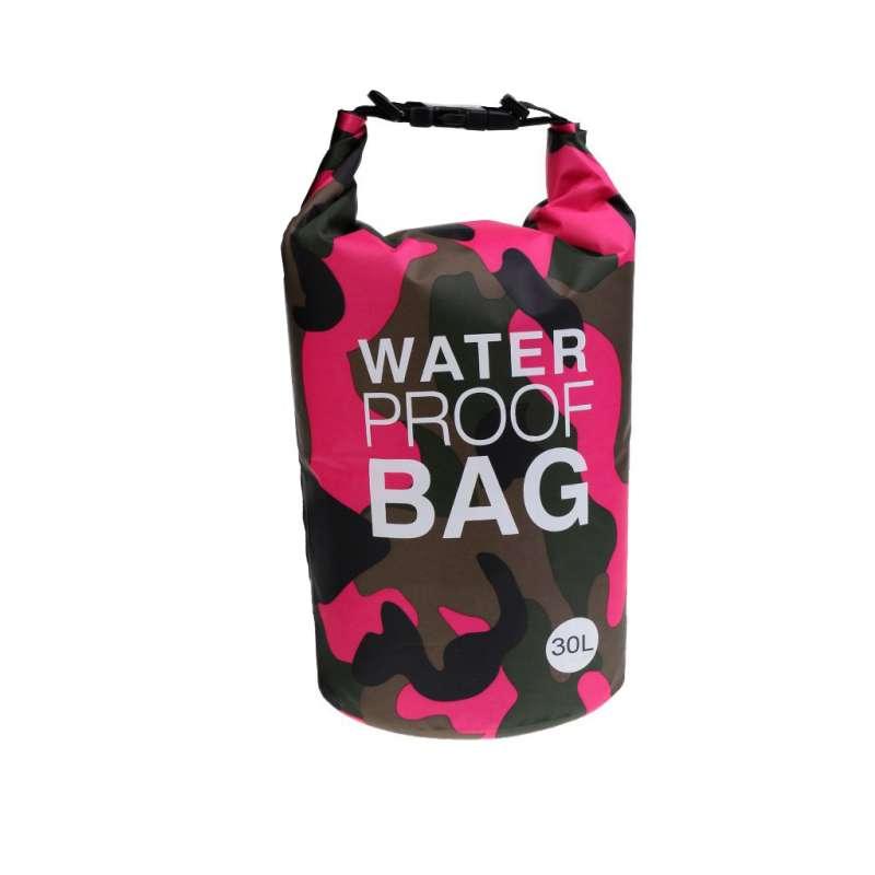 Drybag 30L Tasche Packsack Water proof 30 Liter wasserdicht Camouflage pink Softcase