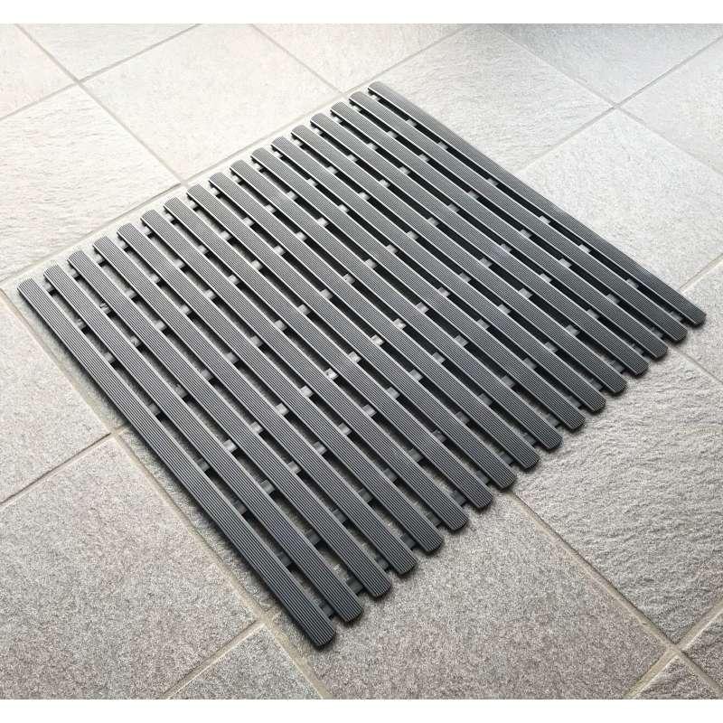 Arend Sauna Rollrost aus PVC in schwarz 100 cm breit 1 lfd. Meter für Saunakabine