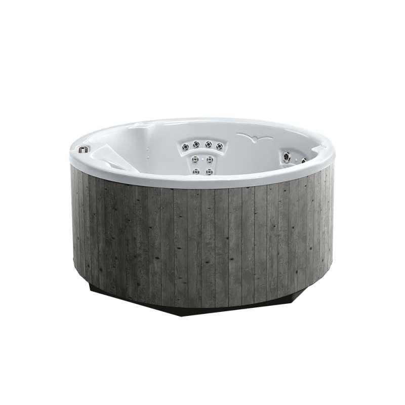 Dimension One Journey Spa Whirlpool für 4 Personen 198 x 91 cm rund grau/weiß