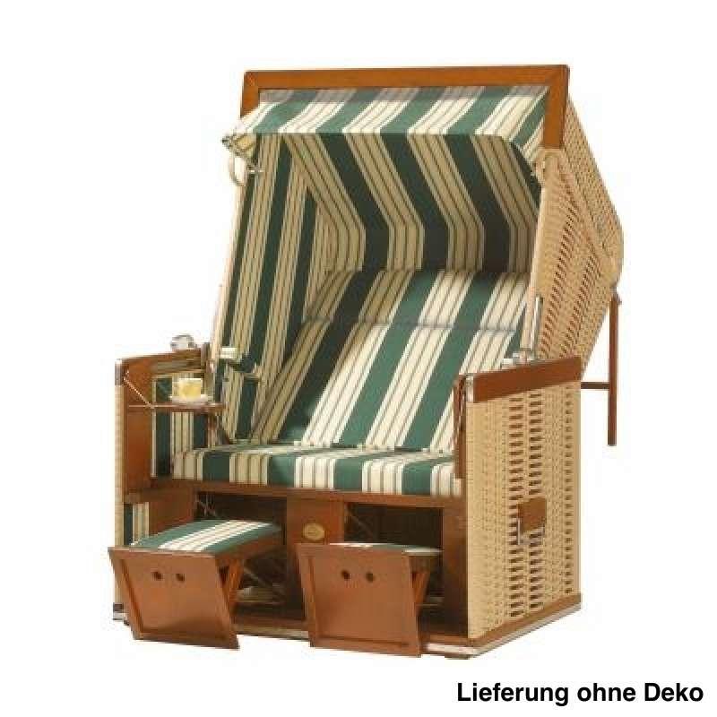 Sonnenpartner Strandkorb Senator 2 Sitzer Liegemodell beige grün