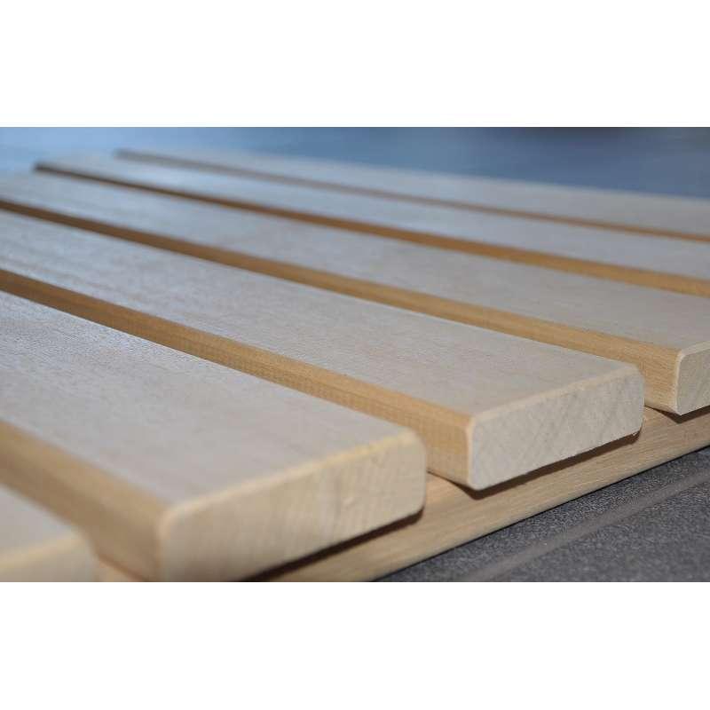 Arend Sauna Rollrost aus Abachi 80 cm breit 1 lfd. Meter für Saunakabine