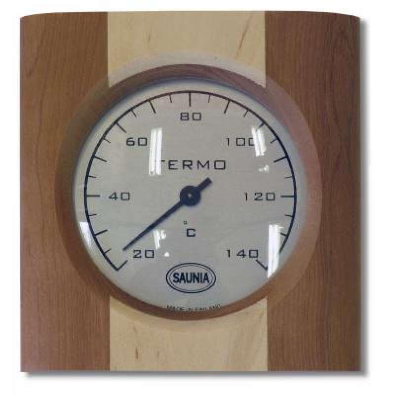 Nikkarien Sauna Thermometer Birke mit einem Streifen Kiefernholz 516L