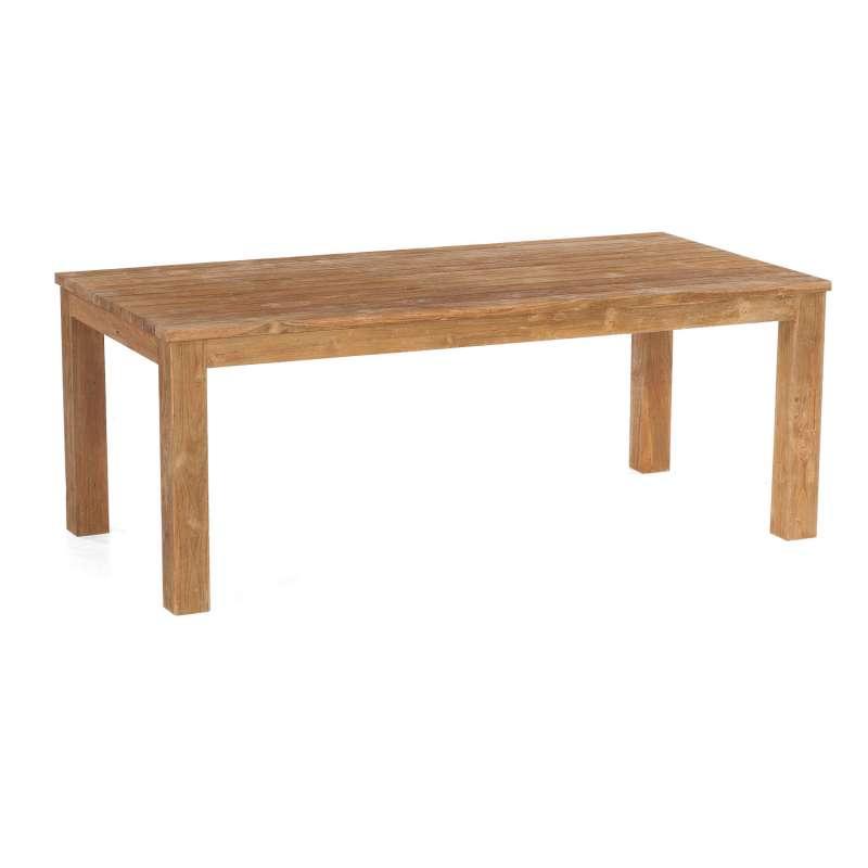 Sonnenpartner Gartentisch Charleston 200x100 cm Teakholz Old Teak Tisch Esstisch