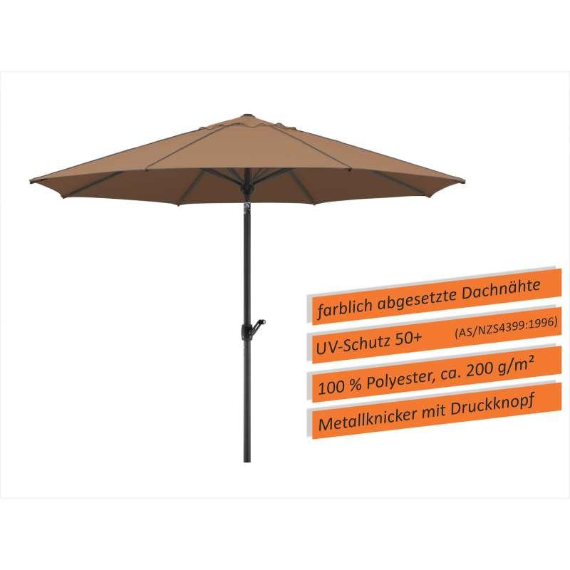 Schneider Schirme Adria Mittelmastschirm ø 300 oder ø 350 cm mocca Sonnenschirm