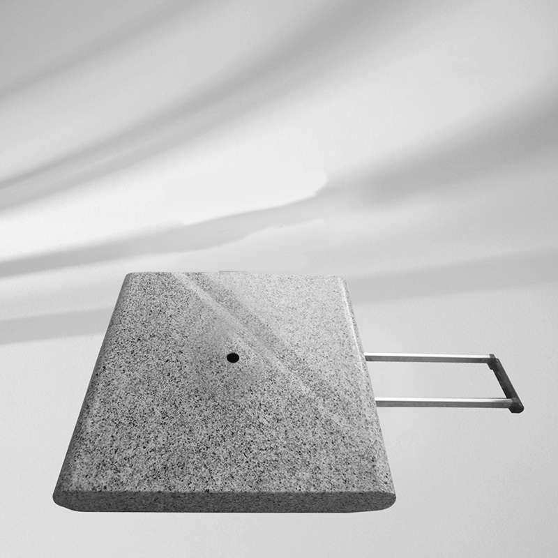 GLATZ Granitsockel Z 55 kg 55 x 55 cm Naturstein Rollen und ausziehbarer Griff Schirmständer