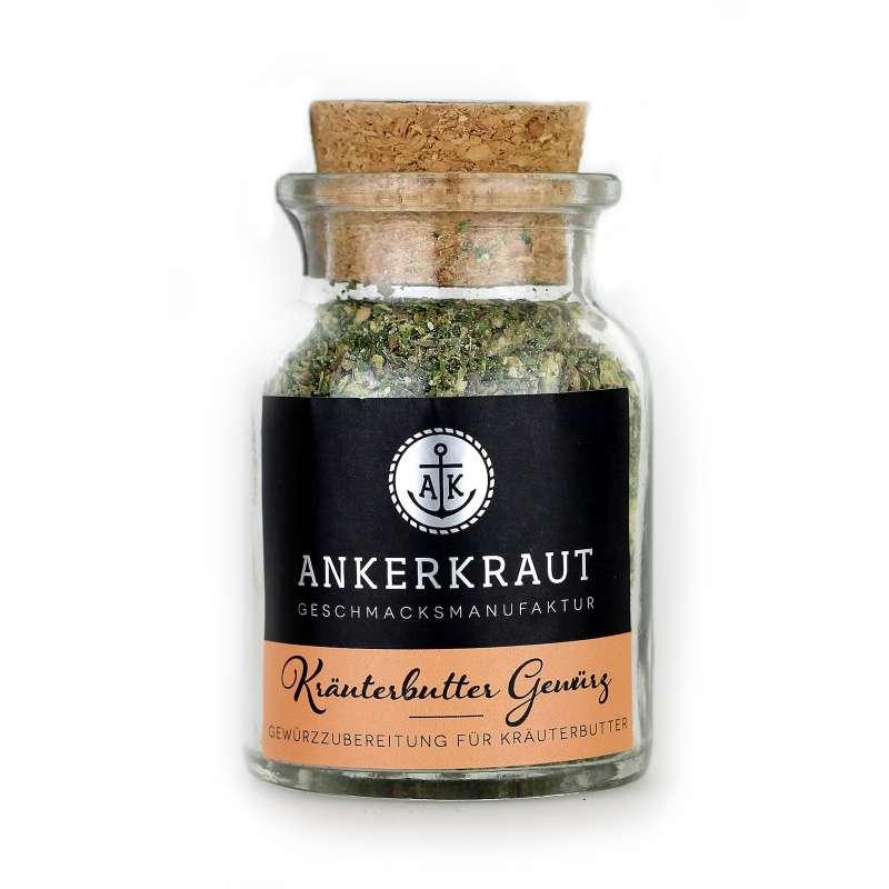 Ankerkraut Kräuterbutter Mix Gewürzmischung Gewürzzubereitung im Korkenglas 65 g