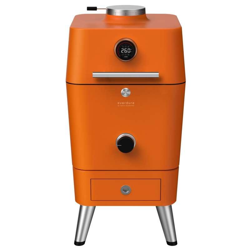 Everdure 4K Kohle- und elektrischer Outdoor Ofen mit elektr. Anzünder Orange