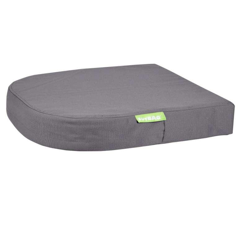 Outbag moon Plus Stuhlauflage Sitzkissen Gartenauflage halbrund wetterfest 45x45x8 cm